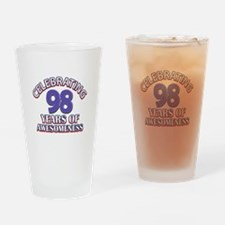 Celebrating 98 Years Drinking Glass