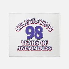 Celebrating 98 Years Throw Blanket
