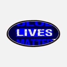 BLUE LIVES MATTER BLUE AND BLUE Patch
