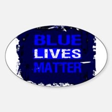 BLUE LIVES MATTER BLUE AND BLUE Decal