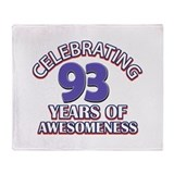 93rd birthday Fleece Blankets