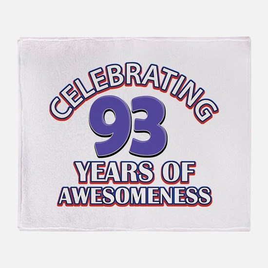Celebrating 93 Years Throw Blanket