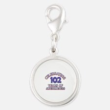 Celebrating 102 Years Silver Round Charm