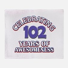 Celebrating 102 Years Throw Blanket