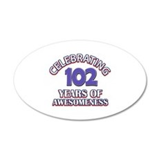Celebrating 102 Years Wall Decal