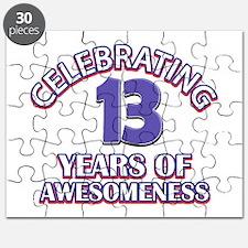 Celebrating 13 Years Puzzle