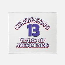 Celebrating 13 Years Throw Blanket