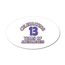 Celebrating 13 Years Wall Decal