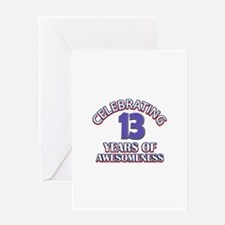 Celebrating 13 Years Greeting Card