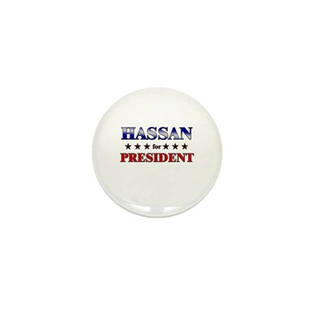 HASSAN for president Mini Button