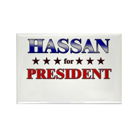 HASSAN for president Rectangle Magnet (10 pack)