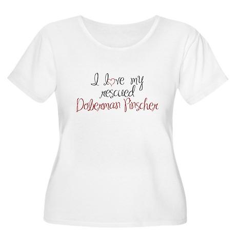 Doberman Pinscher Women's Plus Size Scoop Neck T-S