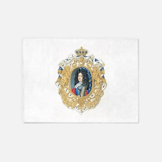 King Louis XIV 5'x7'Area Rug