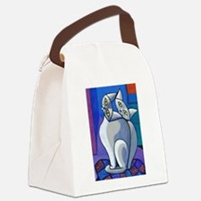 'Two Cats on a Cushion' Canvas Lunch Bag
