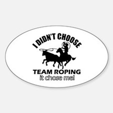 Team roping decal