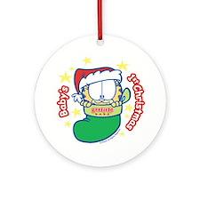 Garfield Baby 1st Christmas Ornament (Round)