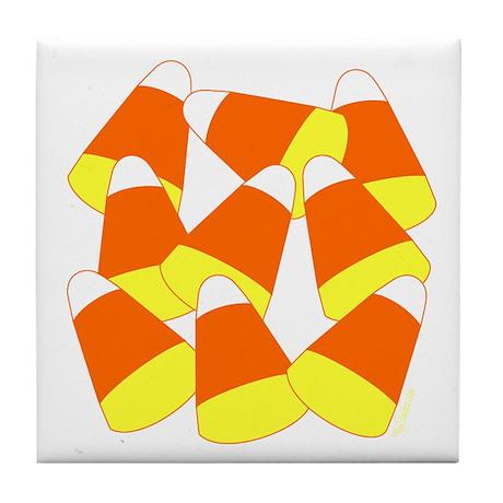 Candy Corn Tile Coaster