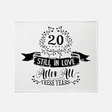 20th Anniversary Throw Blanket