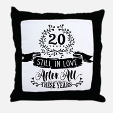 20th Anniversary Throw Pillow