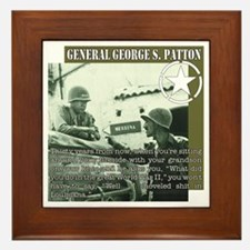 General G.S. Patton Framed Tile