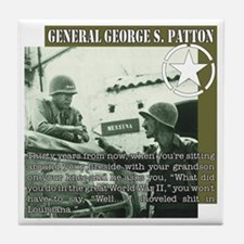 General G.S. Patton Tile Coaster