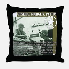 General G.S. Patton Throw Pillow