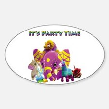 It's Party Time Oval Decal