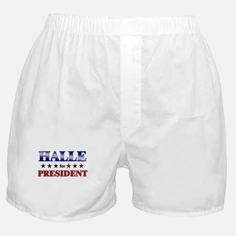HALLE for president Boxer Shorts