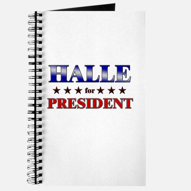 HALLE for president Journal