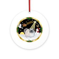 Night Flight Himalayan cat Ornament (Round)