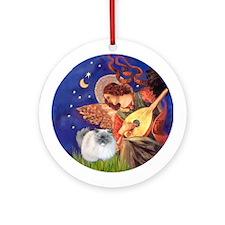 Mandolin Angel & Himalayan cat Ornament (Round)