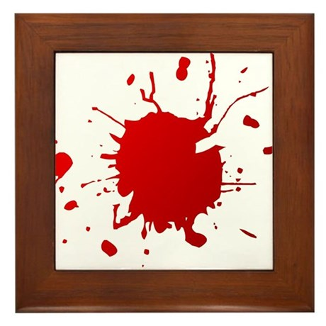 Blood splatter Framed Tile