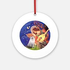 Mandolin Angel & Ragdoll cat Ornament (Round)
