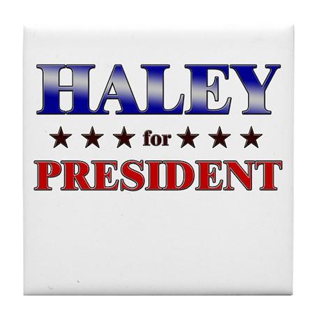 HALEY for president Tile Coaster