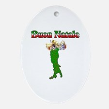 Buon Natale Italian Christmas Boot Oval Ornament