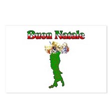Buon Natale Italian Christmas Boot Postcards (Pack