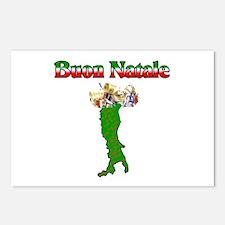 Buon Natale Italian Christmas Boot Postcards (Pack