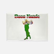 Buon Natale Italian Christmas Boot Rectangle Magne