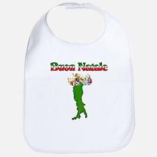 Buon Natale Italian Christmas Boot Bib
