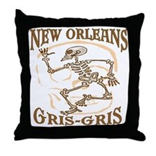 New Orleans Grsi Gris Throw Pillow