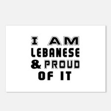 I Am Lebanese And Proud O Postcards (Package of 8)