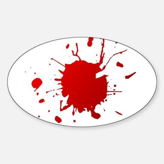 Blood splatter Oval Decal