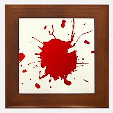Blood splatter Framed Tile