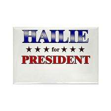 HAILIE for president Rectangle Magnet
