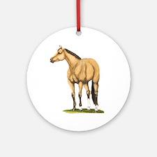 Tate, Buckskin Stallion Ornament (Round)