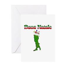Buon Natale Italian Christmas Boot Greeting Card