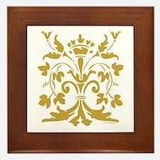 Fleur de lis Queen (gold) Framed Tile