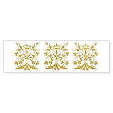Fleur de lis Queen (gold) Bumper Bumper Sticker