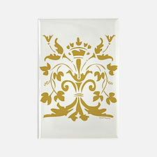 Fleur de lis Queen (gold) Rectangle Magnet