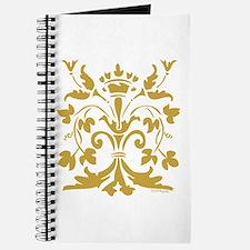 Fleur de lis Queen (gold) Journal